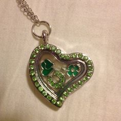 Luck Of the Irish Floating Charm Memory Locket by RebelsCreations
