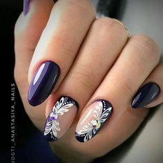 Nails design 2019 photo - All For Hair Color Trending Cute Nail Polish, Cute Nails, Pretty Nails, Elegant Nail Designs, Fall Nail Art Designs, Hair And Nails, My Nails, Nail Deco, Diy Acrylic Nails