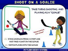 "PE Floor Hockey Stations- 20 ""Stick to it"" Zones"