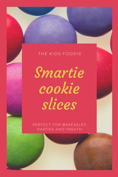 Delicious biscuits that are soft and chewy in the middle (quite brownie-like) and on the outside crisper and with the smarties, have some crunch too. Kids (and adults) will love these! Smartie Cookies, Baking With Kids, Vanilla Essence, Tray Bakes, Biscuits, Chips, Middle, Crack Crackers, Cookies