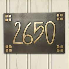 Arts and Crafts house numbers, swoon! More