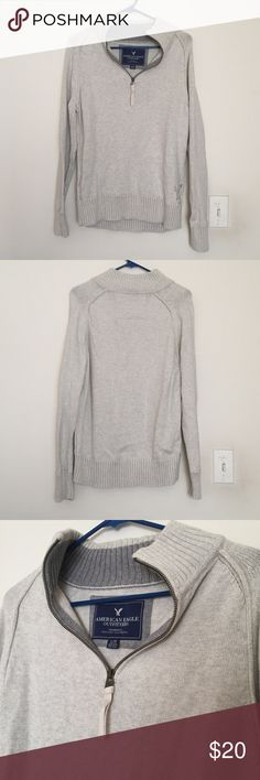 Mens American Eagle Half Zip Sweater Size Large Like New, barely worn. American Eagle Outfitters Sweaters Zip Up