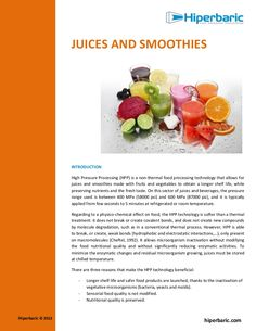Pascalisation of Juices (whitepaper HPP, hiperbaric) by TOP Technology Talks (TOP b.v.) via slideshare