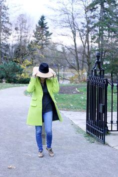 Banana republic citron green coat