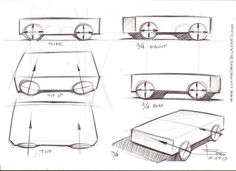How to draw ellipses for car sketch wheels