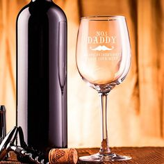 Make your dad s Friday night glass of wine that little bit more special by treating him to this fabulous No 1 Engraved Wine Glass to sip it from