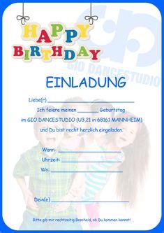 Geburtstag einladung kostenlos