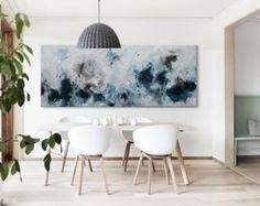 Extra large abstract painting horizontal wall by ElenasArtStudio