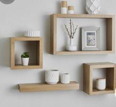 Diy Wood Shelves, Rustic Floating Shelves, Wall Shelves, Kitchen Shelves, Grey Shelves, Floating Wall, Kitchen Tables, Kitchen Pantry, Diy Kitchen
