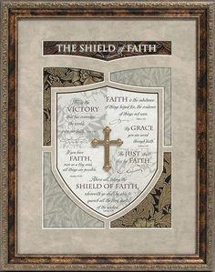 The Shield Of Faith 14x18 Framed Art