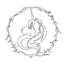 Unicorn Tattoo Design to remind you to always believe in the impossible