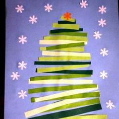 Christmas tree/choinka/ kartka świąteczna