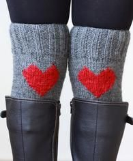 Valentines Gift Idea!  Heart boot cuffs, leg warmers