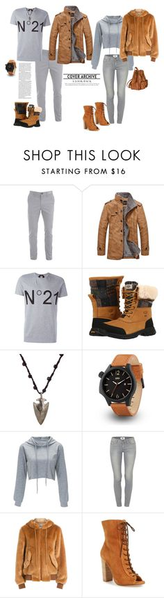 """""""1st time around"""" by lisavern ❤ liked on Polyvore featuring N°21, UGG, Feathered Soul, Paige Denim, Moschino, Kristin Cavallari and Yves Saint Laurent"""