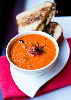 Roasted Tomato Soup with Grilled Daiya Sandwiches - Healthy. Happy. Life.