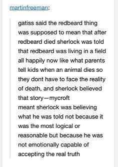 Why Mycroft brought up Redbeard at Mary and John's wedding. THIS IS TOO MUCH FOR MY FEELS