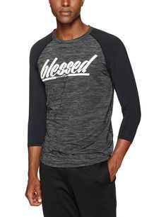 931eef8ba Active Faith Sports Mens Blessed 3/4 Raglan EasyDri Shirt Charcoal Large *  Click on the image for additional details.(It is Amazon affiliate link) #  ...
