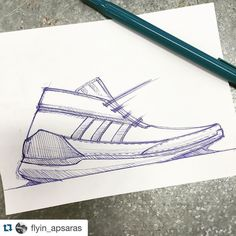 #Repost from Industrial Design student @flyin_apsaras .  Waiting for the lab computer start working...#forever #pensole #asudesignschool #doodle #industrialdesign #shoe #shoedesign