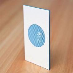 Letterpress business cards from designer Juan Madrigal.