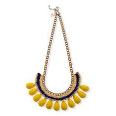Raindrop Necklace Yellow by designer Naama Brosh, on Fab.