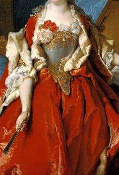 cybertronian:  INCREDIBLE DRESSES IN ART (33/∞)Marguerite de Sève, Wife of Barthélemy-Jean-Claude Pupil by Nicolas de Largillière, 1727