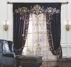 🇮🇹Made in Italy. Order NOW: 📞+971 58 808 45 25 superbiadomus@gmail.com Delivery worldwide✈️🌍 Decor, Elegant, Luxury, Luxury Curtains, Home Decor, Blue Curtains, Curtain Designs