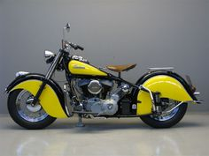 indian chief motorcycle 1952 | The 1952 Indian Chief motorcycle, big, heavy, bedecked with bodywork ...