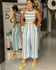 ENTERIZO CULOTTE $$ 195.000 ZAPATOS $$ 125.000 LA LÍNEA DE INFORMACIÓN ES LA 3104378541 EN EL HORARIO DE LUNES A VIERNES DE 9:30 AM A 1:PM… Cute Dress Outfits, Cute Dresses, Cool Outfits, Summer Outfits, Modest Fashion, Fashion Outfits, Womens Fashion, Jumpsuit Outfit, Classic Outfits