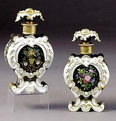Pair of Paris scent bottles by Jacob Petit