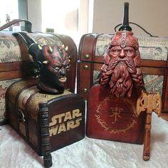Darth Maul  and Gimli son of Gloin  in smoking pipes  #darthmaul #gimli #starwars #lotr #smoking #pipe #handcrafted #woodworking #sfxatlas #epic #handmade
