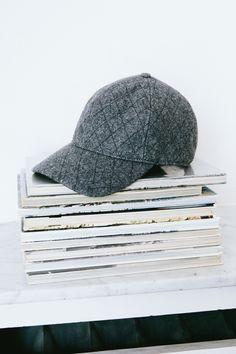 sneak peek / Madewell Fall 2014 catalog. Madewell quilted baseball hat. #fallmadewell