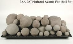Ceramic Fireplace Fire Balls in Mixed Sizes for Gas or Propane Indoor Gas Fireplace, Vent Free Gas Fireplace, Vented Gas Fireplace, Propane Fireplace, Fireplace Redo, Fireplace Inserts, Modern Fireplace, Fireplace Design, Outdoor Fireplaces