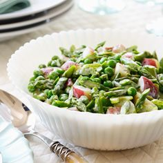 Easter Brunch Recipes: Spring Vegetable Salad #Hallmark #HallmarkIdeas
