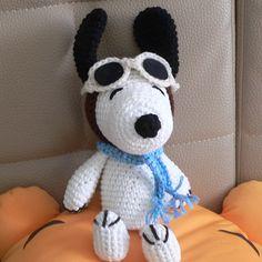 Christmas Amigurumi Santa Claus Snoopy Puppy Dog Crochet by getfun