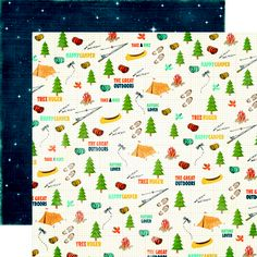 Echo Park - The Great Outdoors Collection - 12 x 12 Double Sided Paper - Icon at Scrapbook.com $0.89