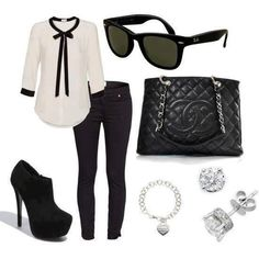 Black and white outfit..love love love this