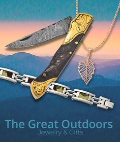 Enjoying the great outdoors has never been so popular. Show your love of nature with this collection of outdoor gear, knives, and nature-inspired jewelry designs. Stock up today: #QualityGold #DamascusSteel #DamascusSteelKnives #CamoJewelry #CamoBracelet #Knives #OutdoorLover #TheGreatOutdoors