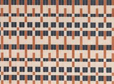 Northern Burnt Orange | Underground Vol.II | Geometric Velvet | Kirkby Design | Durable High Performance Fabrics Weaving Patterns, Tile Patterns, Pattern Art, Textures Patterns, Print Patterns, Stripe Pattern, Orange Fabric, Patterned Carpet, Fabric Wallpaper