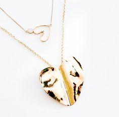 Beaten heart  love necklace BISJOUX  pure by BISJOUX on Etsy, $145.00