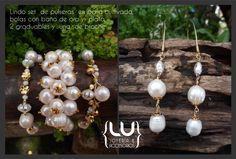 Set de  perlas cultivadas. #aretes #collares #pulseras#moda #fashion #medellin