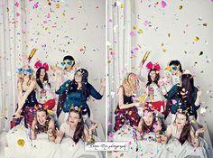 Фотосессия девичника конфети - Свадебный фотограф Катя Тё