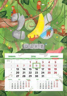 Creative Digital Calendar digital-art-2016-dental-calendar-5 | calendar designs | pinterest