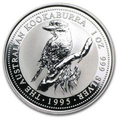 1995 1 oz Silver Australian Kookaburra Coin. Deal Price: $53.65. List Price: $56.98. Visit http://dealtodeals.com/oz-silver-australian-kookaburra-coin/d19282/coins-paper-money/c195/