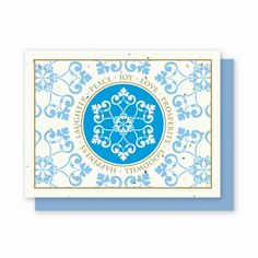 You can grow this card! Snowflake Wishes is another popular designs conveying many message of holiday spirit. Available individually, in boxed sets or in bulk with prices starting at $1.44 each and personalization for corporate or individuals is available. Call 888-402-9979 or e-mail mailto:sales@gree... for information or custom imprinting services.