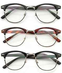 Horn-rimmed half-wire glasses, 80's, hipster, vintage -The tortoise ones for my next pair