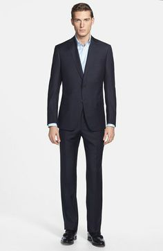Z Zegna 'City' Dark Grey Check Wool Suit available at #Nordstrom