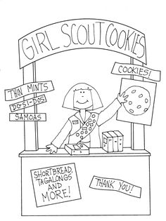Free Printable Girl Scout Thank You labels!! Perfect for