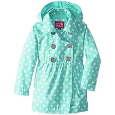 Pink Platinum Little Girls Polka Dot Waisted Spring Trench Coat (Size 4) - Brought to you by Avarsha.com