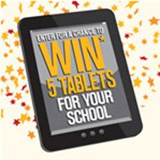 The Labels for Education® program is having a Back to School Sweepstakes! I just entered for a chance to WIN 5 tablets and a $500 app gift card for my school. I can enter daily through 9/30/13. Check it out here!