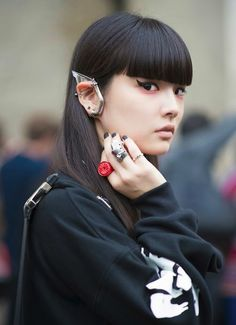 Kozue Akimoto before Undercover Paris Fashion Week 2014 Spring Summer #PFW